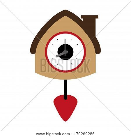 colorful antique clock icon deign vector illustration