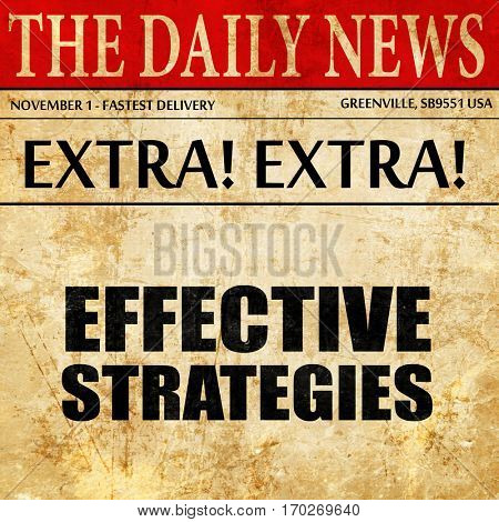 effective strategies, newspaper article text