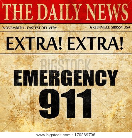 emergency 911, newspaper article text