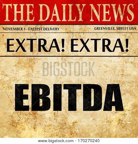 ebitda, newspaper article text