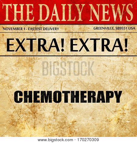 chemotherapy, newspaper article text