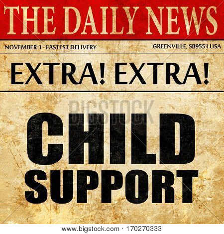 child support, newspaper article text
