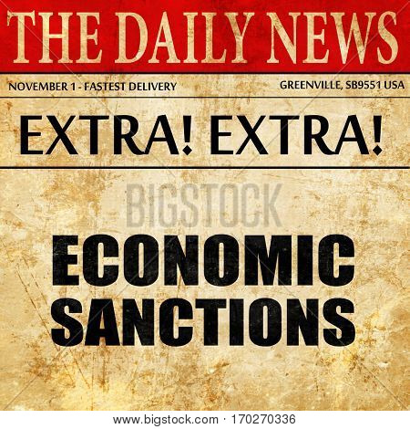 economic sanctions, newspaper article text