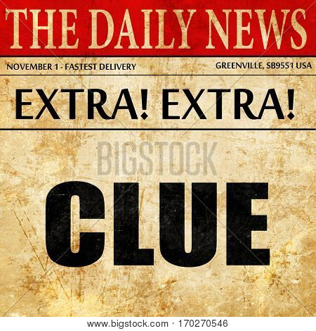 clue, newspaper article text