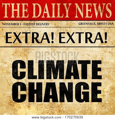 climate change, newspaper article text