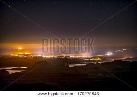 City Of Page Arizona At Night