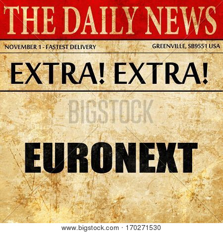 Euronext, newspaper article text