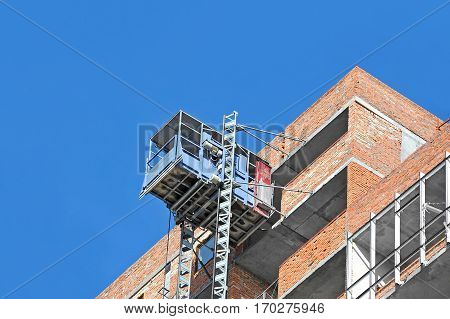 Elevator On Construction Site