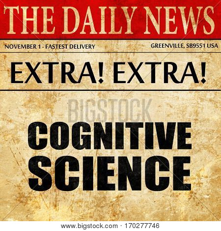 cognitive science, newspaper article text