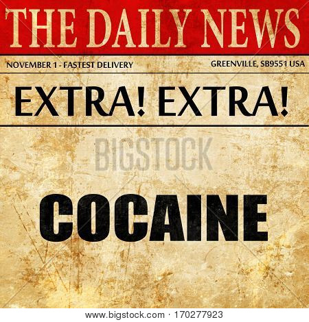 cocaine, newspaper article text