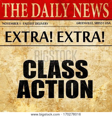 class action, newspaper article text