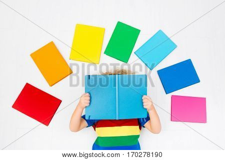 Child Reading Books. School For Kids.