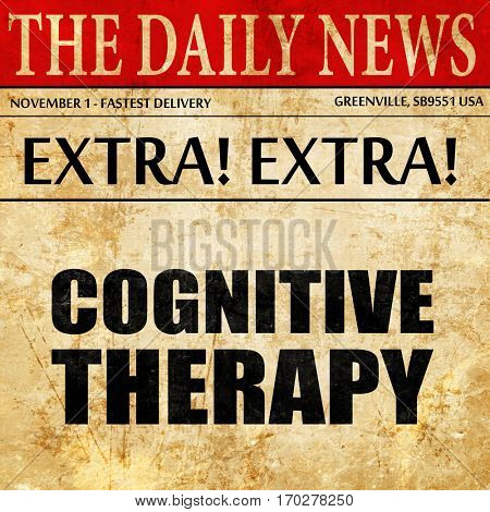 cognitive therapy, newspaper article text
