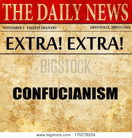 confucianism, newspaper article text