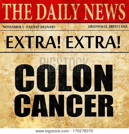 colon cancer, newspaper article text