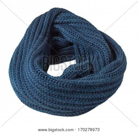 Scarf Isolated On White Background.scarf  Top View .blue Scarf