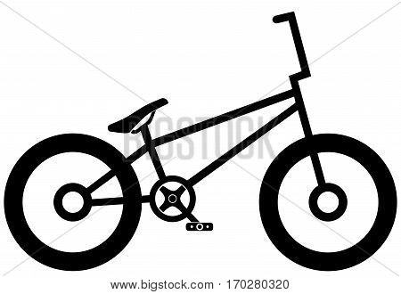 Bicycle icon on white background. Vector illustration.