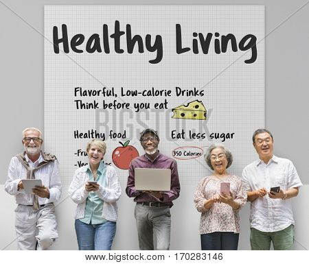 Healthy Living Lifestyle Well being Concept