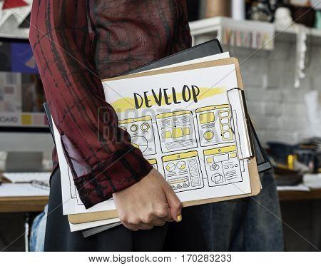 Development Develop Work flow Design Graphic Word