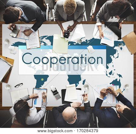 Cooperation Global Connection Management Icon