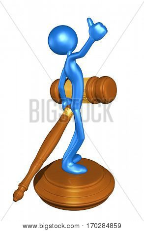 The Original 3D Character Illustration Law Legal Concept