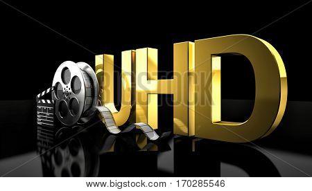 cinema uhd concept 3d rendering image
