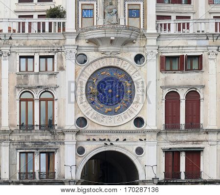 Clocktower on the Piazza San Marco in Venice