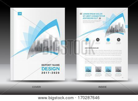 Annual report brochure flyer template, Blue cover design, business flyer template, book, booklet, newspaper, catalog, advertisement poster