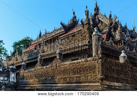 Shwenandaw Monastery at Mandalay city in yanmar