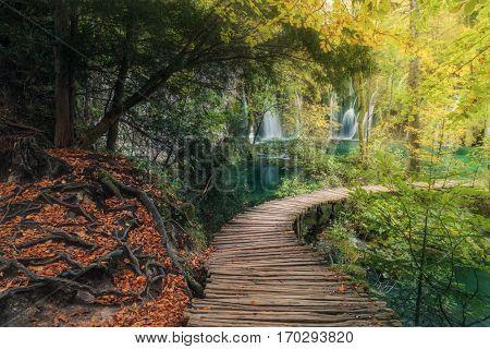 Croatia. Autumn in the Park Plitvice Lakes