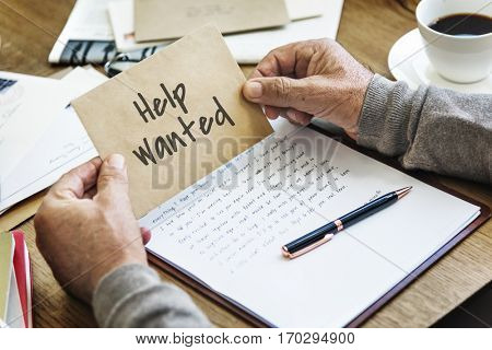 Employment Human Resources Help Wanted Manpower Recruitment Concept