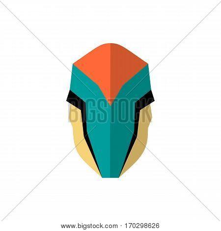 Super hero masks in flat style. Big cartoon superhero. Vector eps10