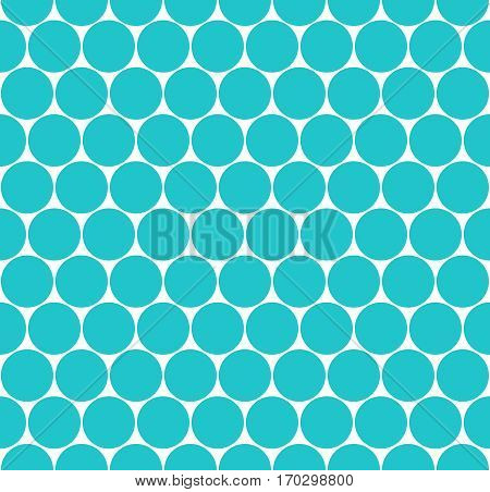 Use it in all your designs. Green seamless pattern with circular shapes. Quick and easy recolorable shape. Vector illustration a graphic element