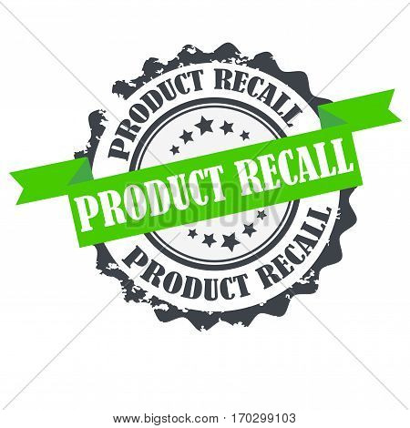 Product recall stamp.Sign.seal.Logo design isolated on white