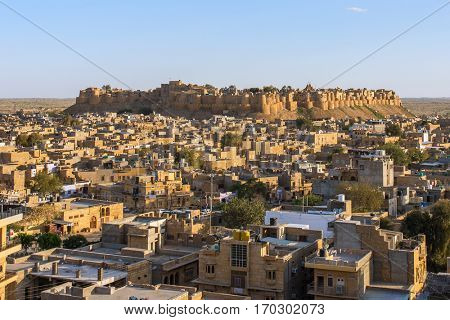 Jaisalmer fort in Rajasthan, India