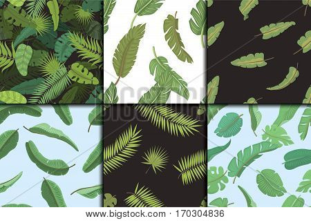 Seamless pattern with banana leaves vector illustration. Nature design floral summer plant textile fashion tropical art. Abstract fabric colorful hawaii vintage drawing.