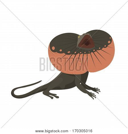Gecko lizard reptile isolated vector illustration. Wild cartoon nature dragon funny design. Reptile flat drawing body monster character.