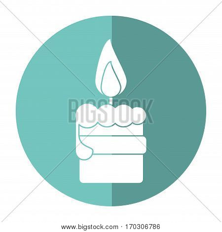 easter candle flame with ribbon decoration shadow vector illustration eps 10