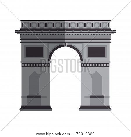 arc of triomphe icon over white background. colorful design. vector illustration