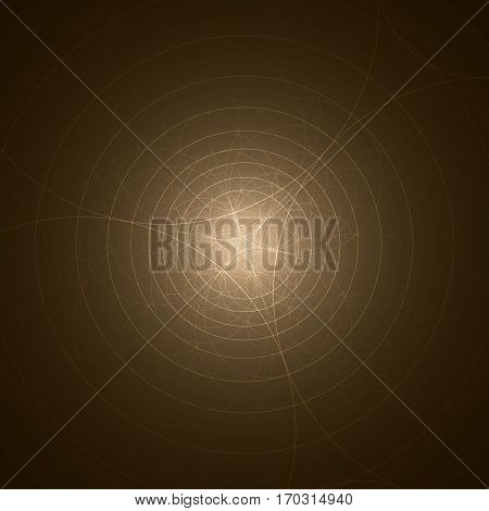 Abstract alchemical theme. Fractal art background. Sacred geometry. Mysterious relaxation pattern. Digital artwork, graphic alchemy