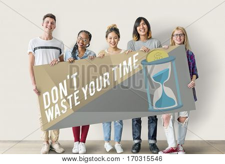 Don't Waste Your Time Concept