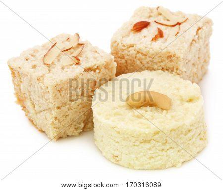 Delicious Bangladeshi white sandesh of pure milk