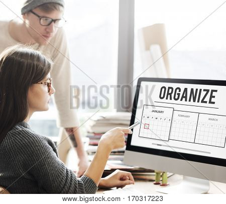 Working analysis organize teamwork business