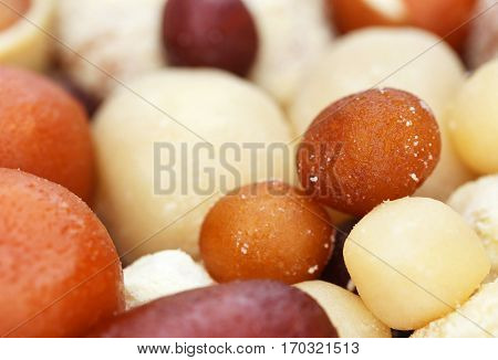 Close up of popular Bangladeshi india sweetmeats poster