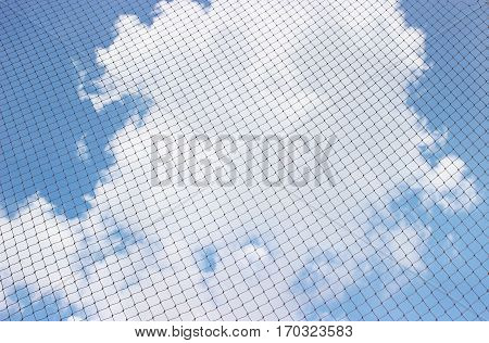 Look skyward through mesh is novel .