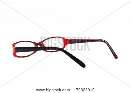 fashion glasses is back and red color.