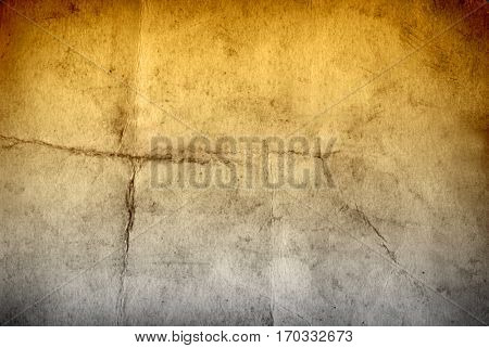 Concept or conceptual old vintage brown golden paper background, metaphor to antique, grunge, texture, retro, aged, grungy, ancient, dirty, torn, damaged, stained, frame, manuscript, material designs