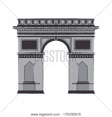 arc of triomphe icon over white background. vector illustration