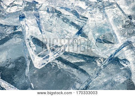 Natural ice, Ice floe. Climate change concept.