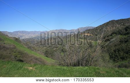 Panoramic view of the San Gabriel Mountains, Los Angeles